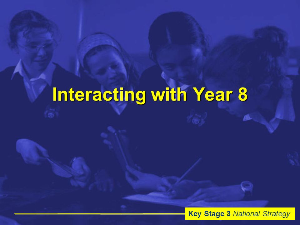 Key Stage 3 National Strategy Interacting with Year 8