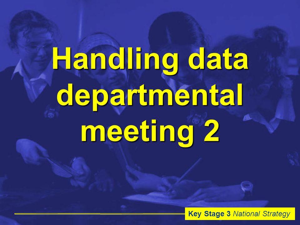 Key Stage 3 National Strategy Handling data departmental meeting 2