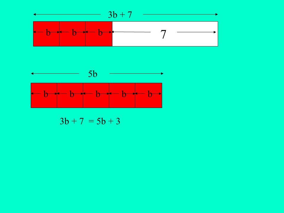 bbbbbb 7 bb 3b + 7 5b 3b + 7 = 5b + 3