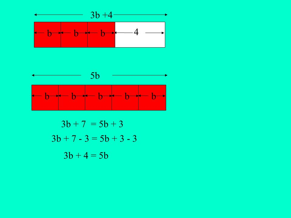 bbbbbbbb 3b +4 5b 4 3b + 4 = 5b 3b + 7 - 3 = 5b + 3 - 3 3b + 7 = 5b + 3