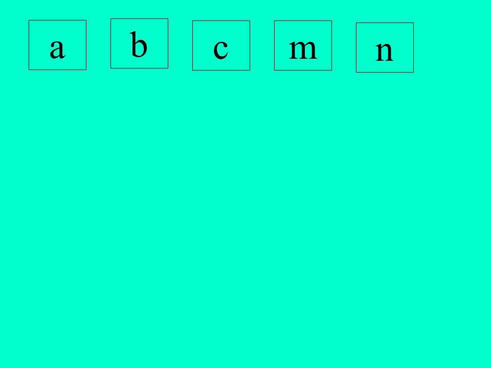 a b cm n