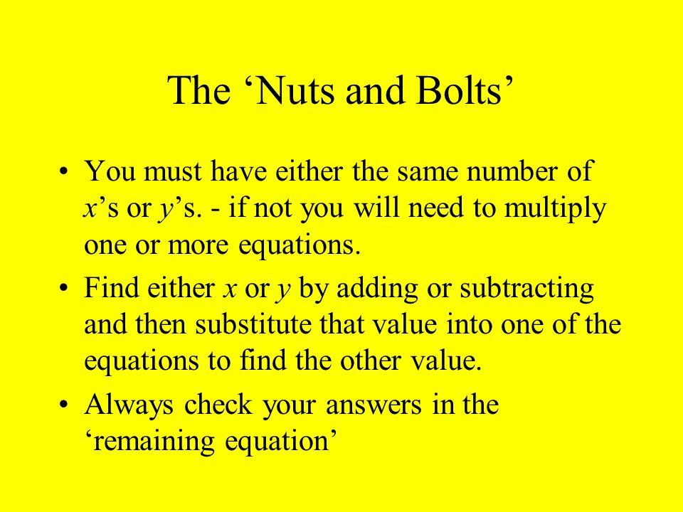 Rough Guide to solving sim.Equations.