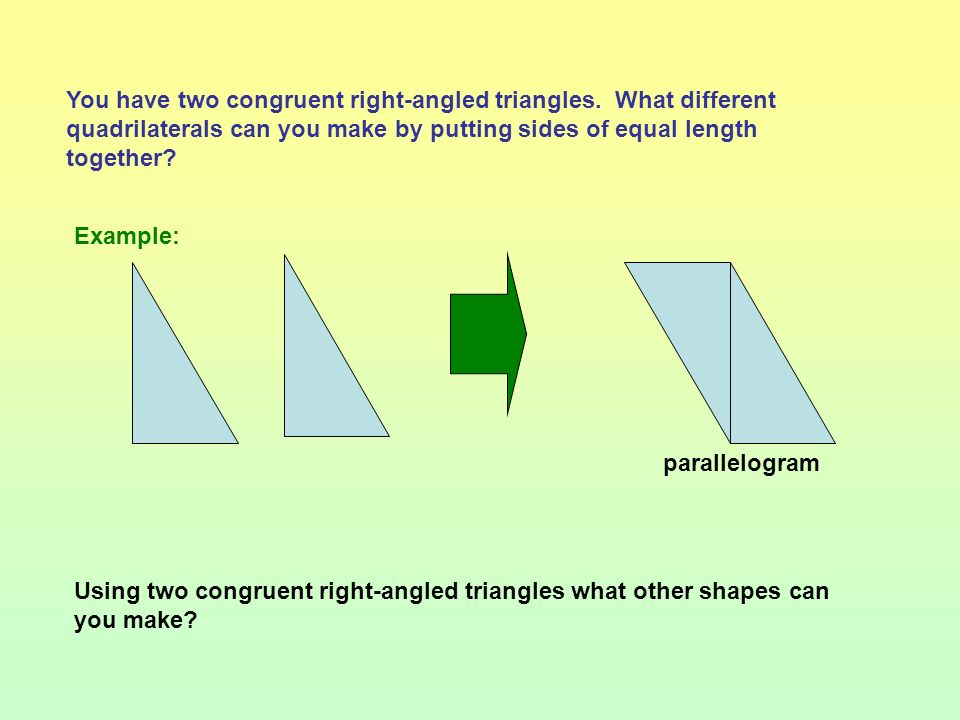 D AB has been extended to point D. Angle CBD (marked) is an external angle of the triangle. A B C Follow these instructions: Draw a triangle and label