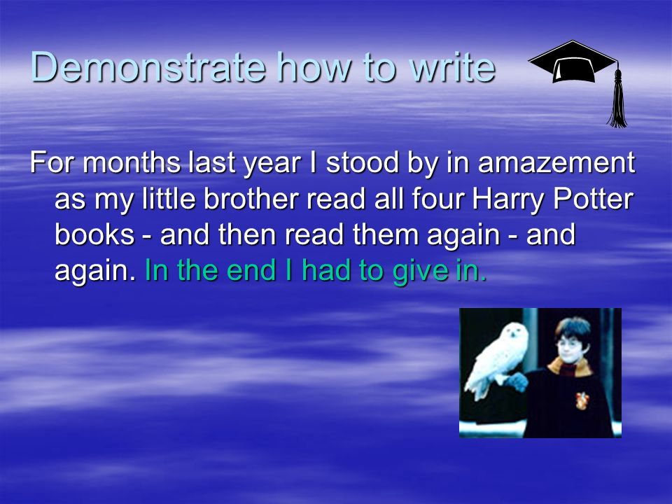 Define the conventions Word Level Features My own - Uses personal words to show anecdotal style My own - Uses personal words to show anecdotal style upteenth - slang - again to suggest personal style upteenth - slang - again to suggest personal style Uses many proper nouns - name dropping or establishing where his opinions came from Uses many proper nouns - name dropping or establishing where his opinions came from