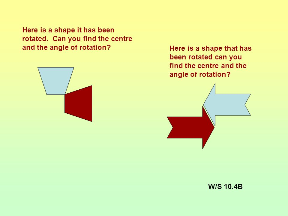 C C C Did you rotate the shapes correctly? You can use tracing paper in KS3 and KS4 exams to help you rotate shapes.