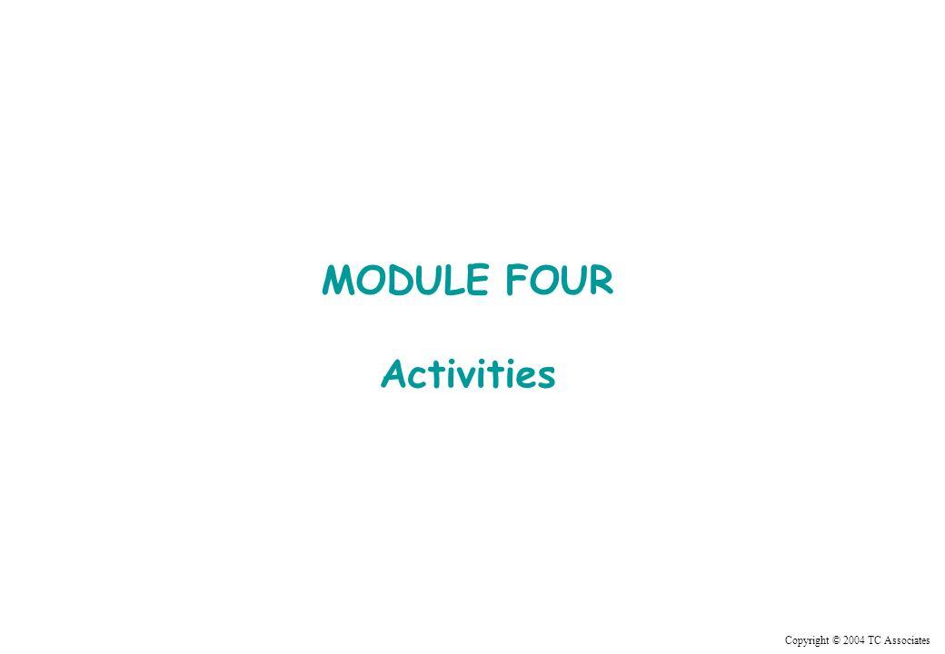 Copyright © 2004 TC Associates MODULE FOUR Activities