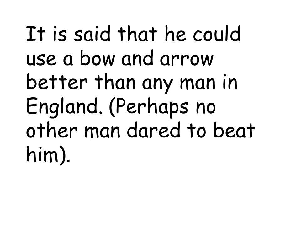 Archery – using a bow and arrow
