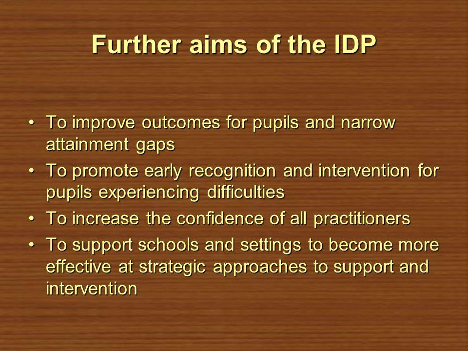 Who does the IDP involve.