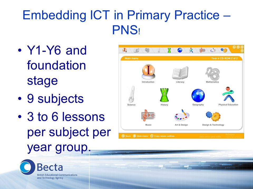Embedding ICT in Primary Practice – PNS .