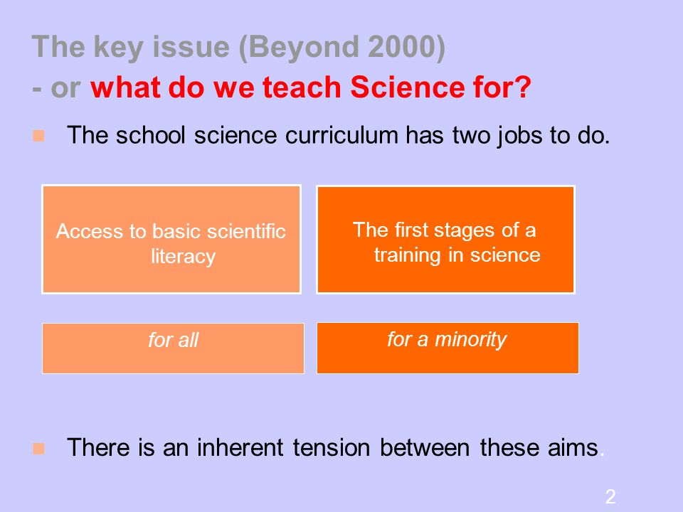 Why is KS4 (and 3) Science changing?
