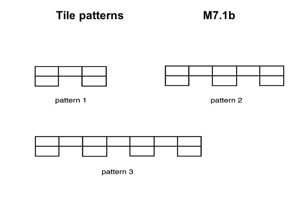 Tile patternsM7.1b