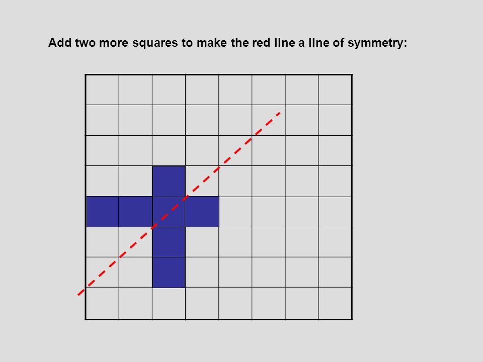 Move one square only: no lines of symmetry
