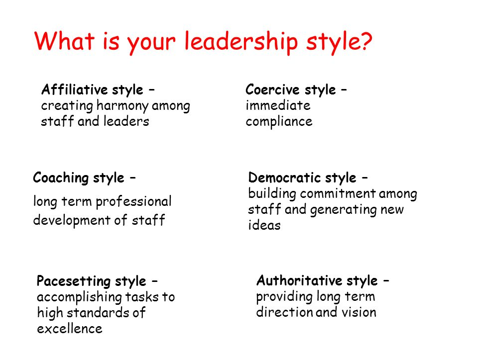 What is your leadership style.