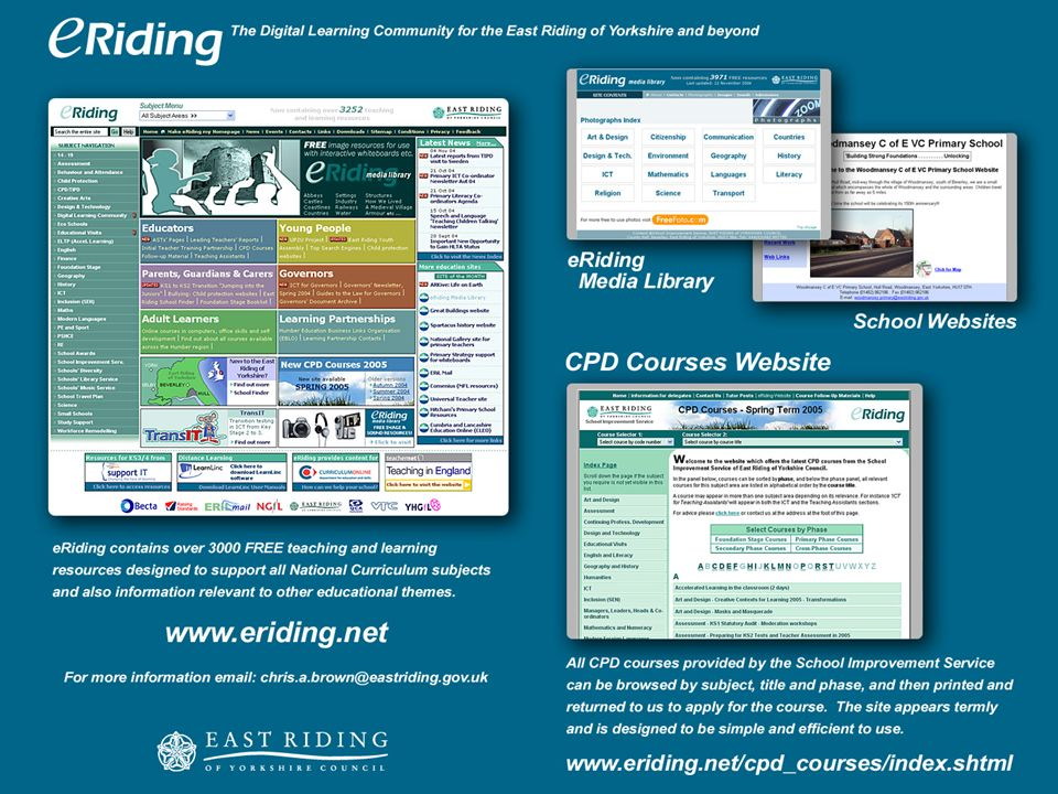 Where do I find out about East Riding of Yorkshire CPD courses ?