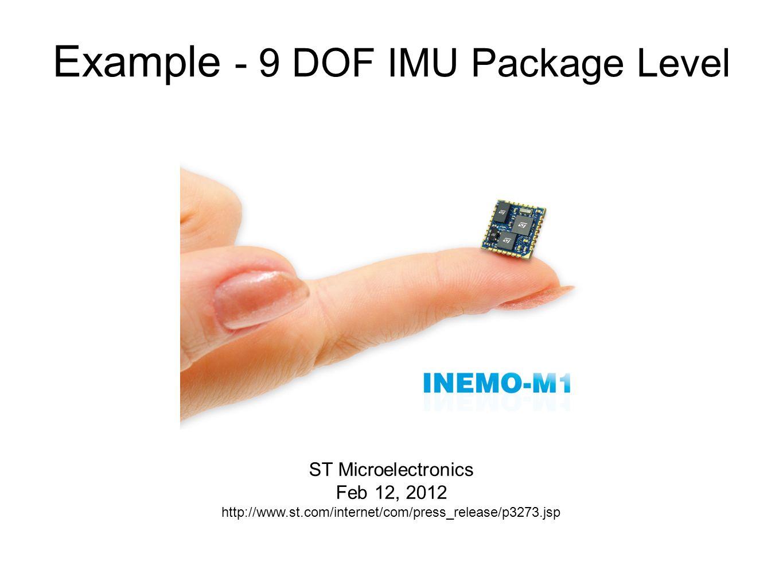 Example - 9 DOF IMU Package Level ST Microelectronics Feb 12, 2012 http://www.st.com/internet/com/press_release/p3273.jsp