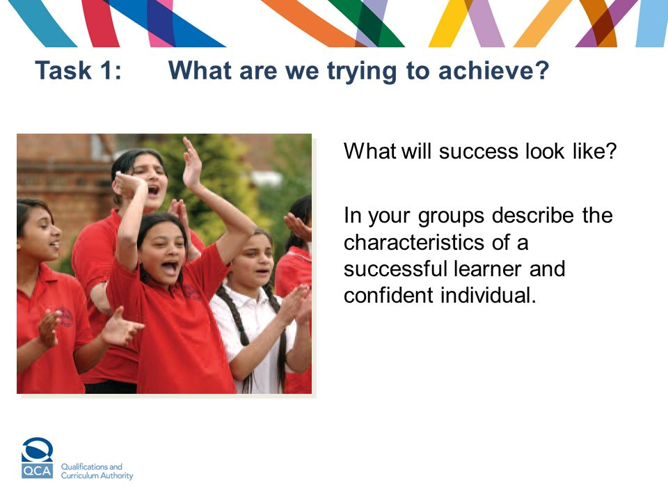 Task 1:What are we trying to achieve.What will success look like.
