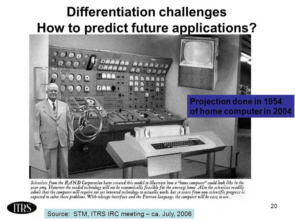 20 Differentiation challenges How to predict future applications.