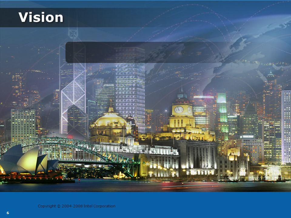 Copyright © 2004-2008 Intel Corporation 7 Vision Thrive