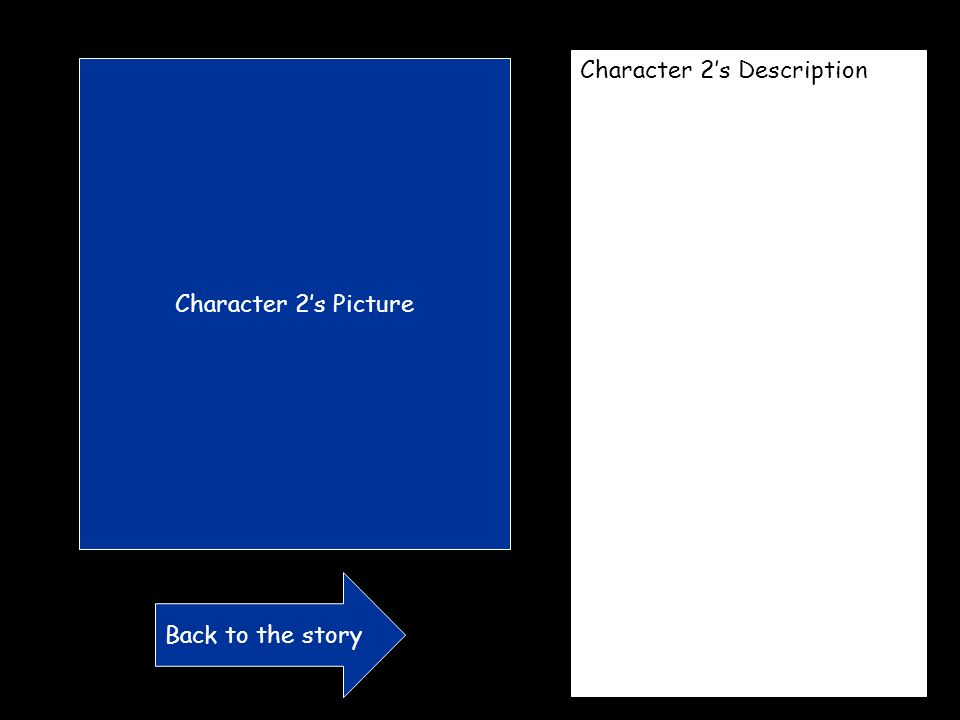 Choice 2 your character finds what they are looking for. Picture What happens next? Go Back