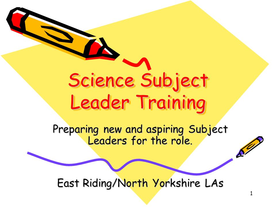 2 Subject Leader Training - Programme for the day 9:30 Session 1.