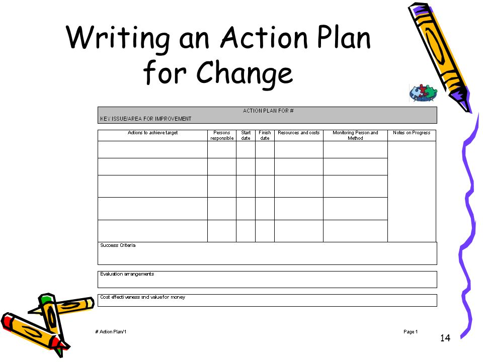14 Writing an Action Plan for Change