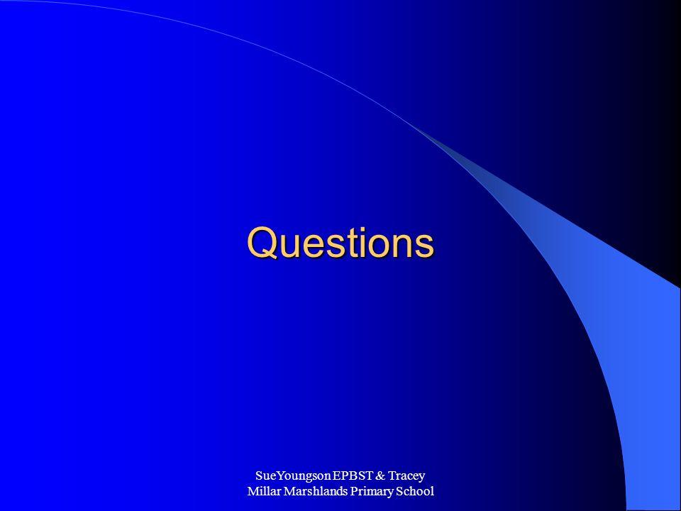 SueYoungson EPBST & Tracey Millar Marshlands Primary School Questions