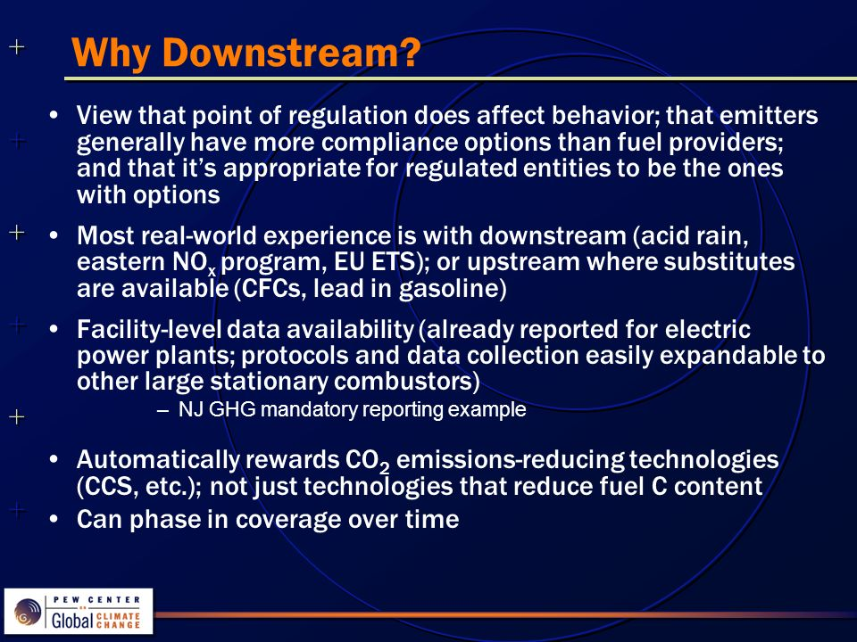 ++++++++++++++ ++++++++++++++ Why Downstream.