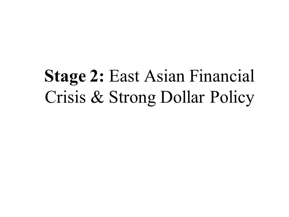 Stage 2: East Asian Financial Crisis & Strong Dollar Policy