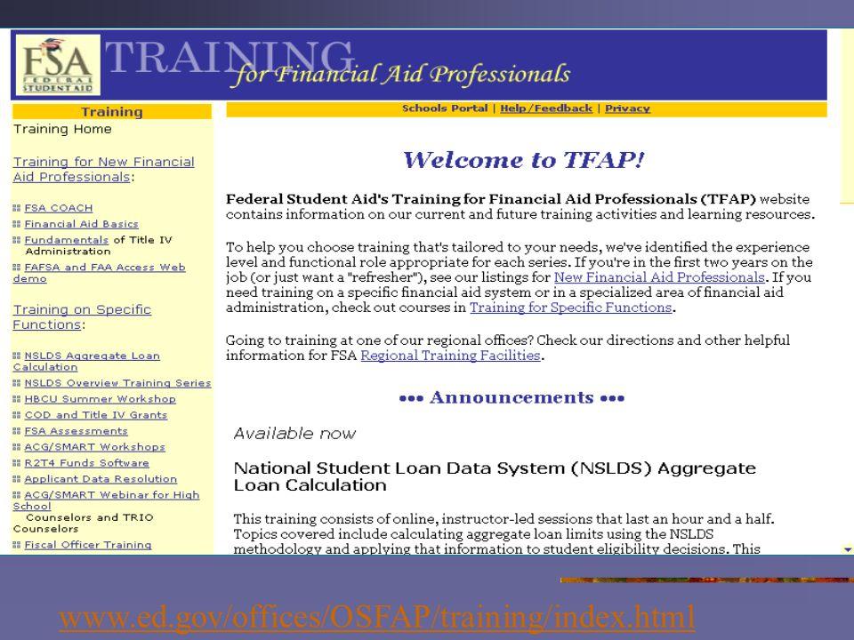 www.ed.gov/offices/OSFAP/training/index.htmlwww.ed.gov/offices/OSFAP/training/index.html/