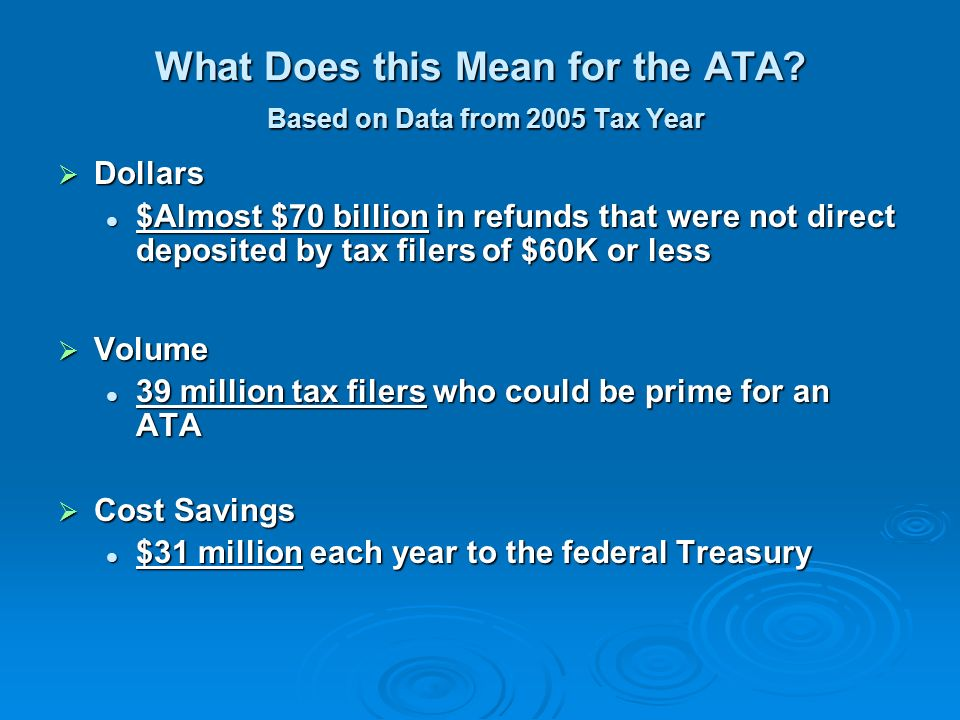 What Does this Mean for the ATA.