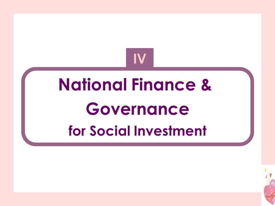 National Finance & Governance for Social Investment IV