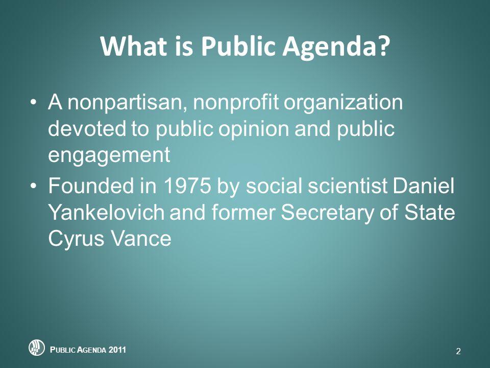 What is Public Agenda.