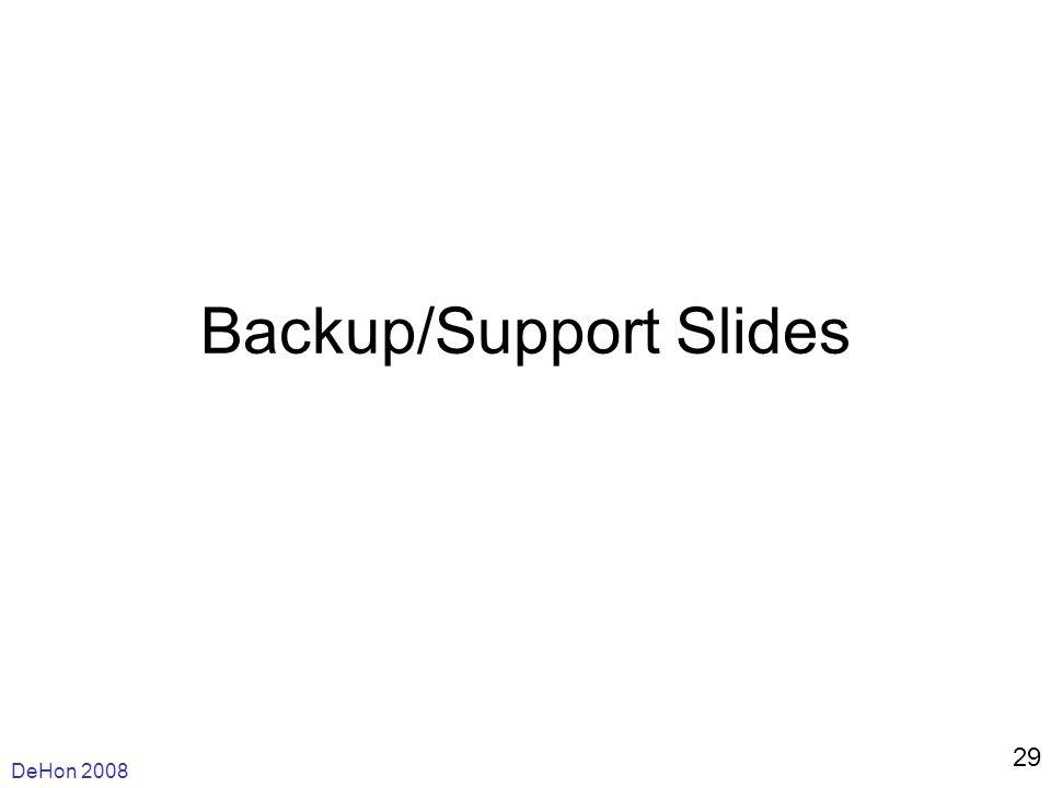 DeHon 2008 29 Backup/Support Slides
