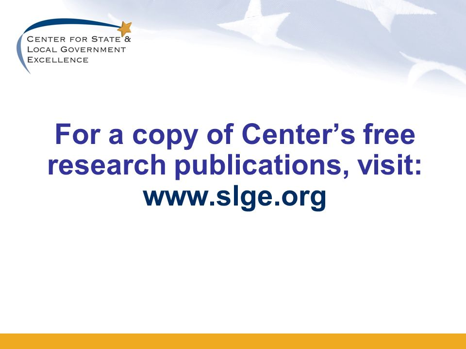 For a copy of Centers free research publications, visit: