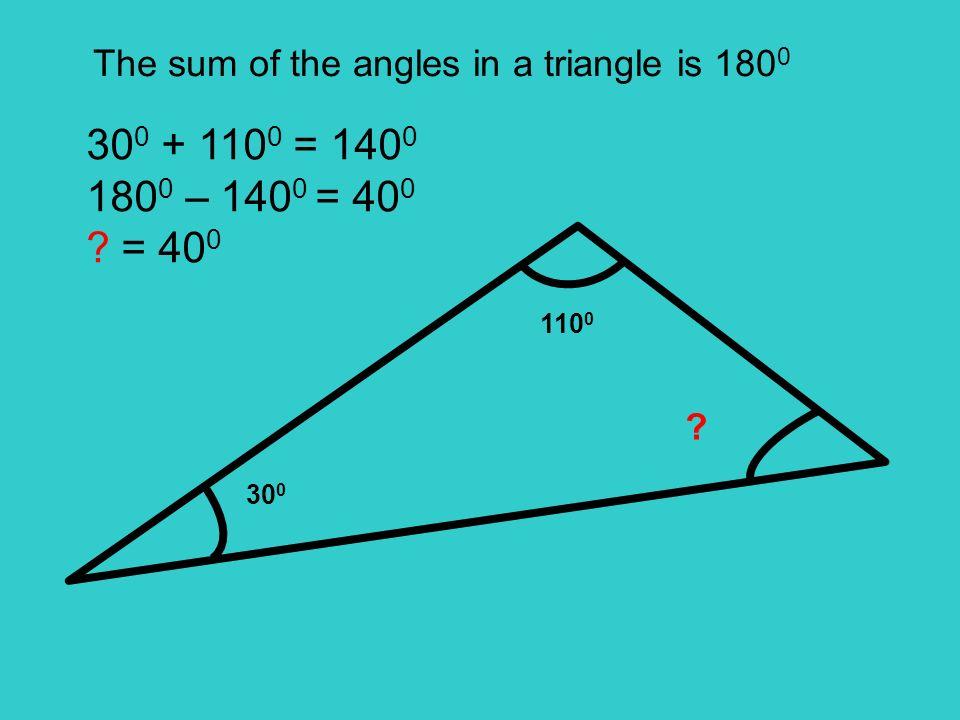 85 0 50 0 ? 85 0 + 50 0 = 135 0 180 0 – 135 0 = 45 0 ? = 45 0