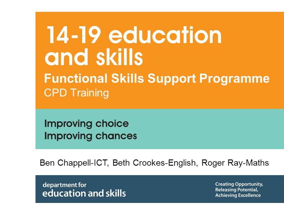 12 Continual professional development For schools: - 4 modules of the 16 are CORE For pilot centres: - Entitlement to two days CPD as half day or twilight sessions - Choice of 12 modules each equivalent to a half day - Available from second half of autumn term to first half of spring term - Support for dissemination available on line.