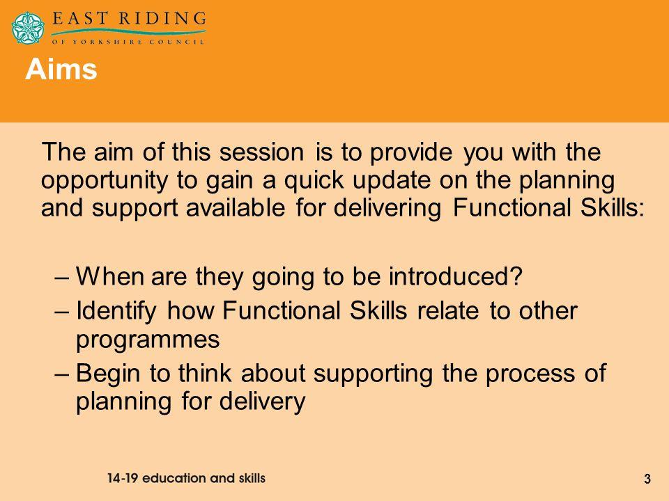 24 Functional Skills Module 3 & 4 Training 2009 28th April 2009 Maths Ramada 29th April 2009 English Tickton Grange 30th April 2009 ICT Ramada Dates For Your Diary