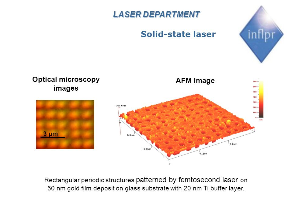 Workstation for micro/nano-structures writing with femtosecond laser LASER DEPARTMENT Solid-state laser Operator Laser monitoring system Micro/nano- structures writing system FSEC LASER