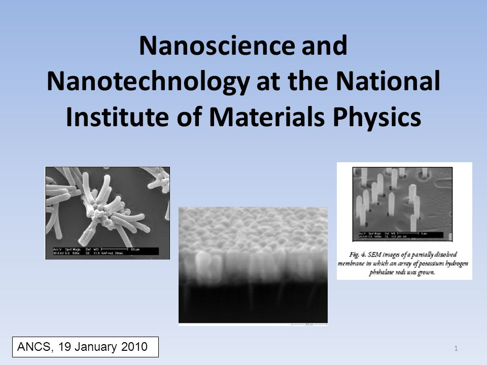 Nanoscience and Nanotechnology at the National Institute of Materials Physics ANCS, 19 January