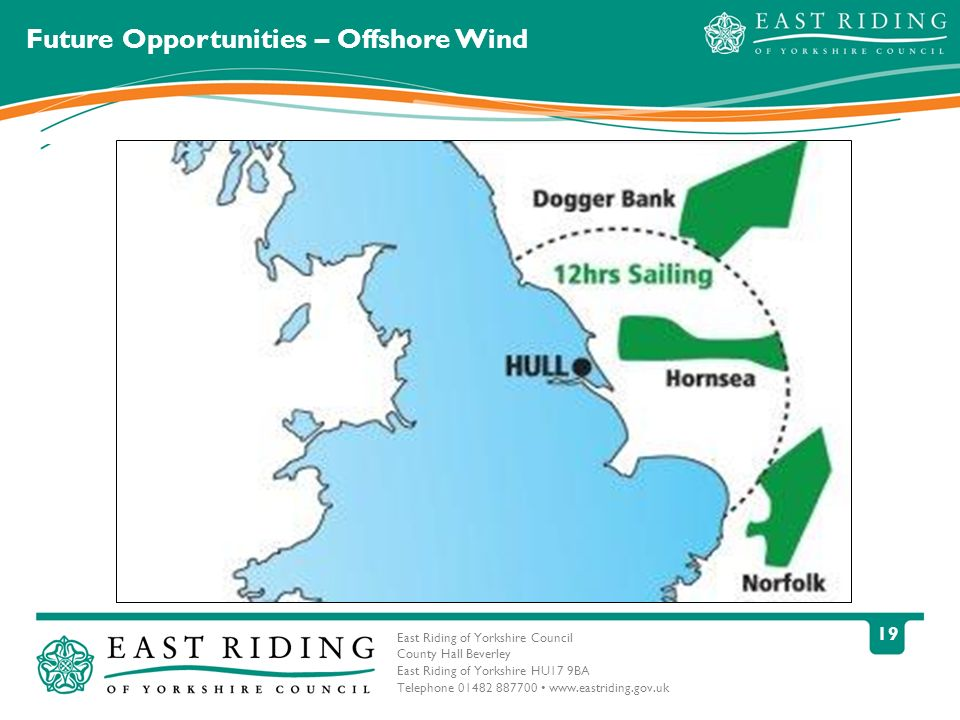 East Riding of Yorkshire Council County Hall Beverley East Riding of Yorkshire HU17 9BA Telephone 01482 887700 www.eastriding.gov.uk 19 Future Opportunities – Offshore Wind