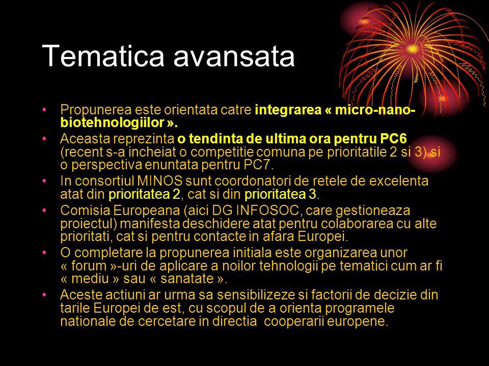 Tematica avansata Propunerea este orientata catre integrarea « micro-nano- biotehnologiilor ».