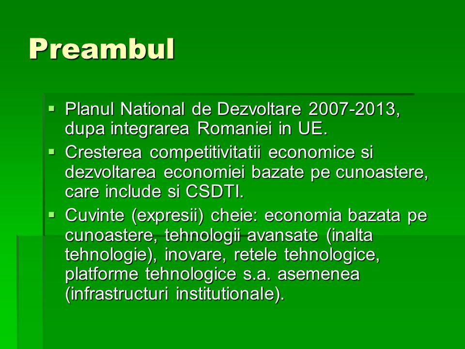 Preambul Planul National de Dezvoltare 2007-2013, dupa integrarea Romaniei in UE.