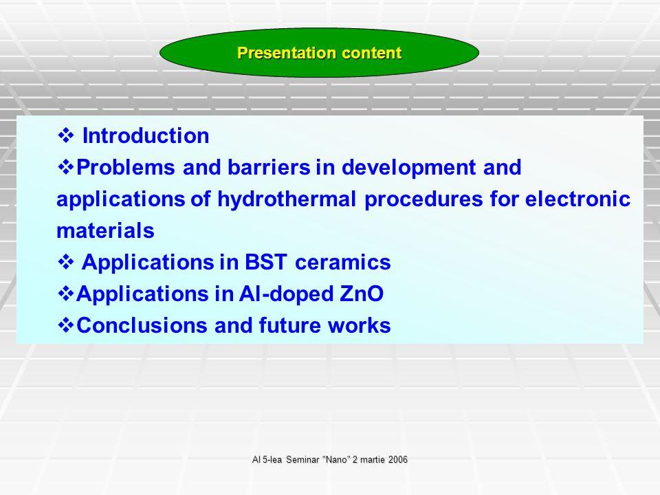 Al 5-lea Seminar Nano 2 martie 2006 Nanomaterials – the driving force, by Michael J.
