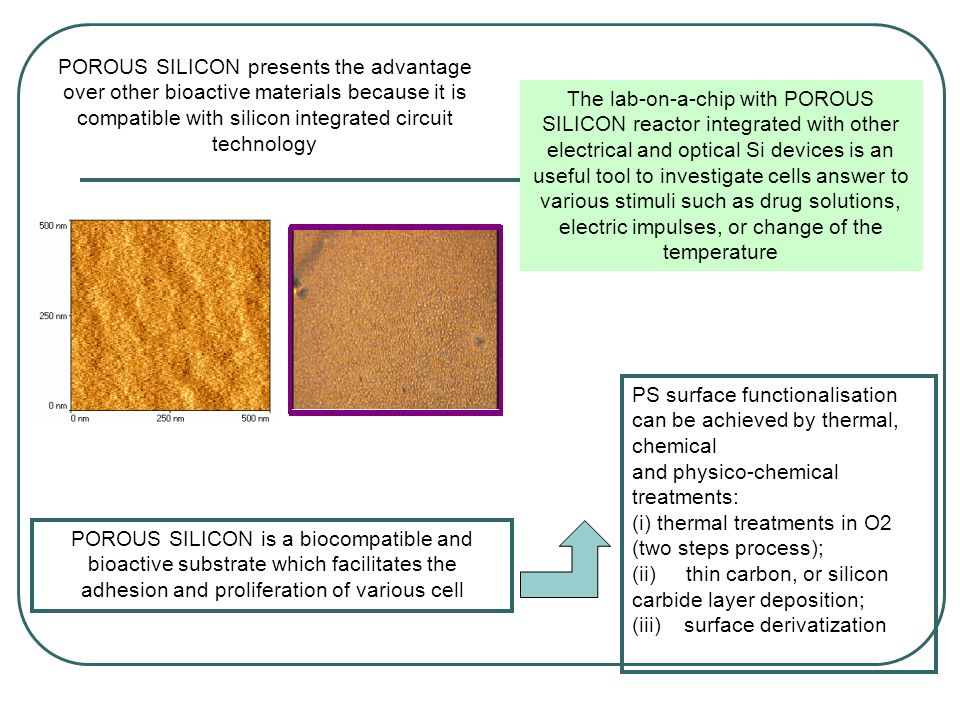 PS surface functionalisation can be achieved by thermal, chemical and physico-chemical treatments: (i) thermal treatments in O2 (two steps process); (