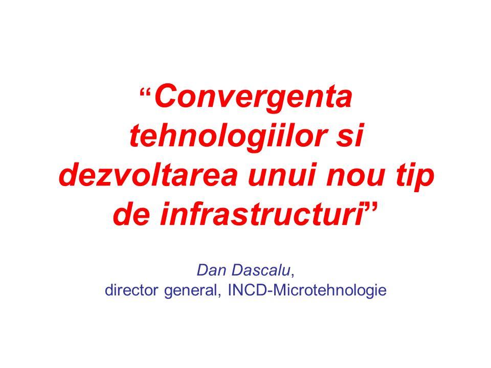 Convergenta tehnologiilor si dezvoltarea unui nou tip de infrastructuri Dan Dascalu, director general, INCD-Microtehnologie