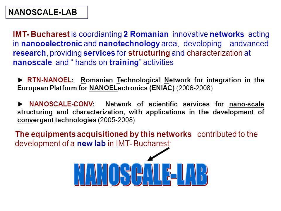 RTN-NANOEL: Romanian Technological Network for integration in the European Platform for NANOELectronics (ENIAC) (2006-2008) NANOSCALE-CONV: Network of