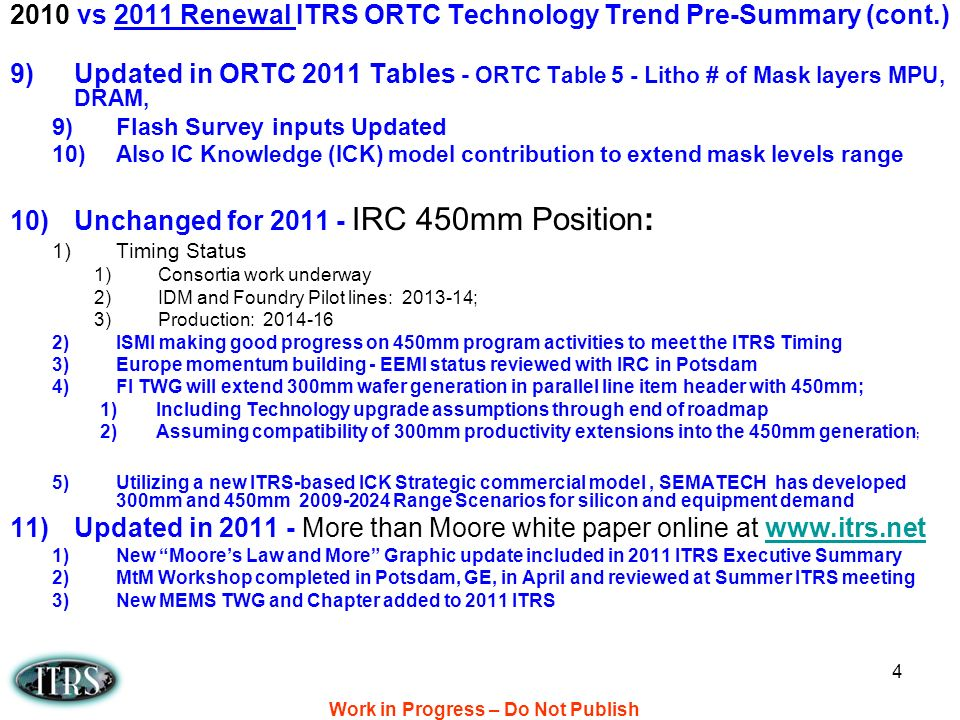15 16nm Near-TermLong-Term 2010 ITRS Summary Figure 5b Figure 5b MPU/high-performance ASIC Half Pitch and Gate Length Trends [ Unchanged from 2009 ITRS ] 2009/2010 ITRS versions WAS versus IS/Unchanged (except extend to new end period): 2011 ITRS: 2011-2026 Work in Progress – Do Not Publish!