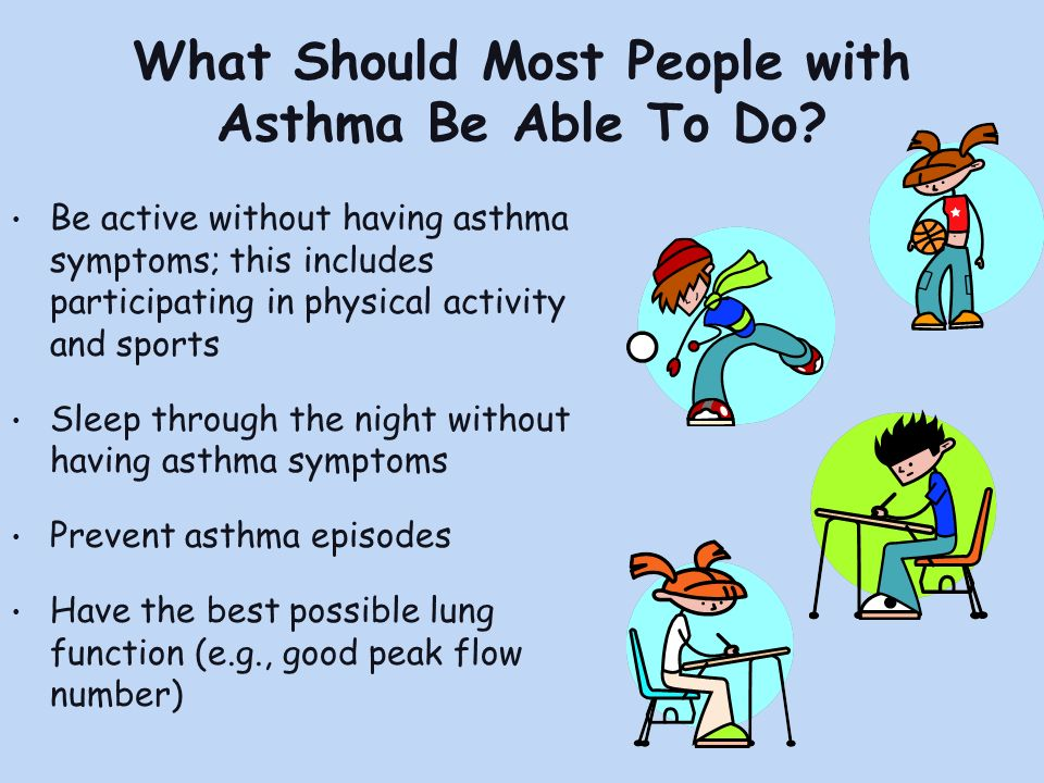 What Should Most People with Asthma Be Able To Do.