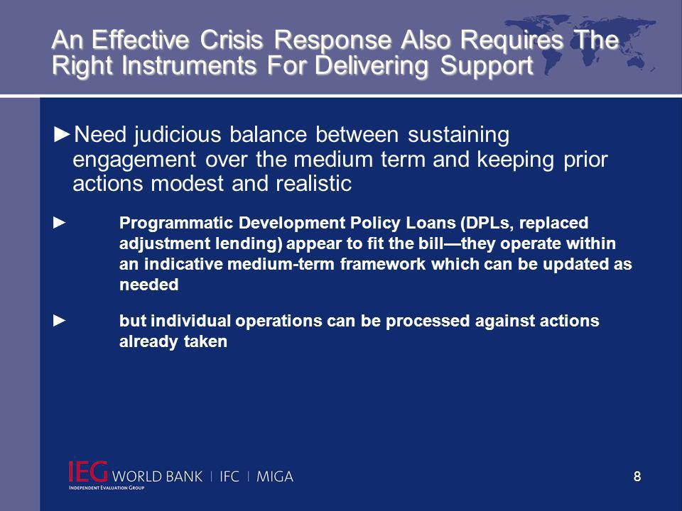 9 Close Coordination With Other Development Partners Is A Key Factor Behind Effective Crisis Support Within the World Bank Group (i.e., between the IBRD/IDA, IFC and MIGA) With partners outside the World Bank Group: IMF (macroeconomic framework, exchange rate policy) EU (given its experience and major role in helping new-member countries to cope with the crisis)