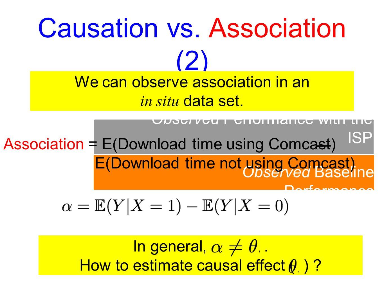 Causation vs.